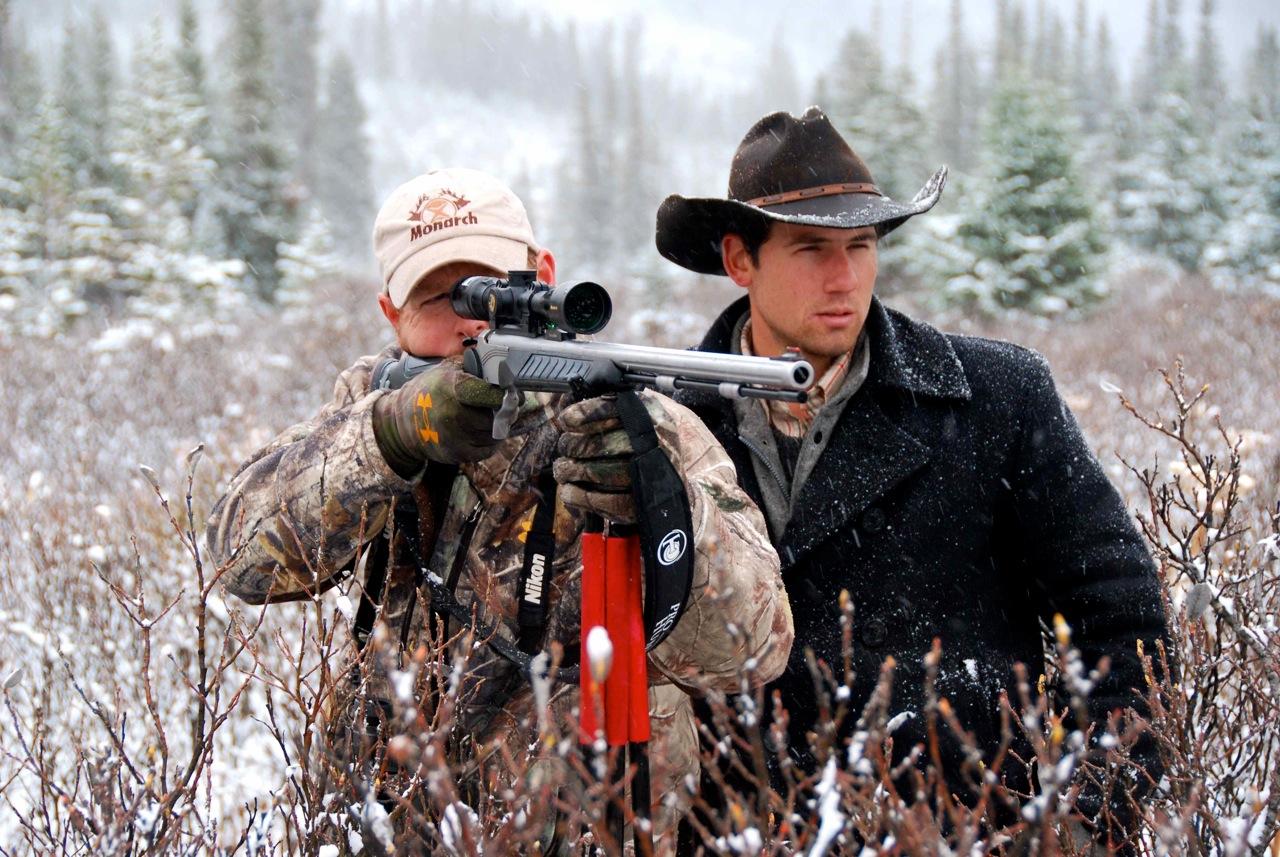 Shooting moose red.